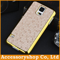 Wholesale Football Diamond Pattern Hybrid Case For Galaxy S5 HTC ONE M8 Xperia Z2 Electroplated PC PU Leather Cover Coloful Back Skin Fast DHL