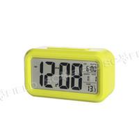 Wholesale Digital LCD LED Alarm Clock Colorful Indoor Digital Alarm Clock