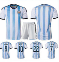 Cheap Free shipping! thailand quality argentina Soccer Jerseys 2014 World Cup,MESSI football shirt uniforms,free name number and patch by DHL ship