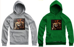 Free shippinp New Entombment of Christ Graphic Print Pyrex 23 Hooded Sweatshirt with hood hoodie Relious Kanye west Rocky Celebrity 7 color