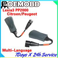 Wholesale PP2000 Lexia Citroen Peugeot Diagnostic Tool PP2000 V24 Lexia3 V48 Newly Diagbox V7 With Multi languages