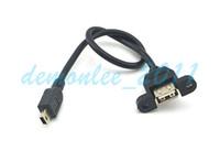 Free Shipping 10pcs lot 30cm USB A Female Panle Mount adapte...