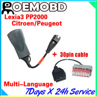 Wholesale Lexia3 Lexia V47 PP2000 for Citroen Peugeot lexia auto Diagnostic Tool With Pin cable