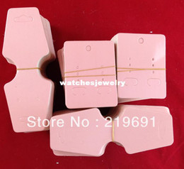 pink cardboard earrings and necklaces card :Customize your own logo MOQ:2000pcs jewelry sets