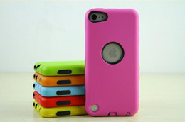 Wholesale PC Silicone Hybrid Rugged Impact Robot Cover Case for iPod Touch G G Defender Shell High Quality
