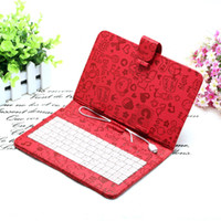 Wholesale US Stock Lovely inch Cute Cartoon Leather Keyboard Cover Case For quot Tablet pc MID iRuLu Q88