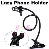 Universal   Universal 360 Rotating Lazy Bed Desk Phone Car Mount Kit Stand Holder Bracket With Flexible Long Arms For iPhone4 5 Galaxy S5 Note 3 THC LG