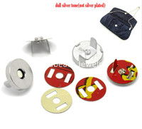 Wholesale Sets Silver Tone Magnetic Purse Snap Clasps Closure for Purse Handbag mm quot Dia B20765
