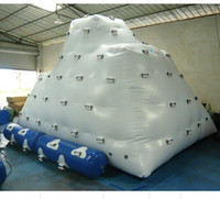 Wholesale Water park inflatable iceberg water climbing games