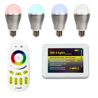 Wholesale 2 G wifi Group Division E27 W W RGBW Bulb Led Color Temperature Brightness Adjustable LED RGB Bulb Lights V CE ROHS