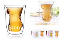 Glass sippy cups - 2014 new crystal skull shot glass for champagne glass fashion women body wine beer glass sippy cup EXSM0295