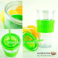Wholesale Fashionable Double wall plastic tumbler cups with straw and lid for Starbucks