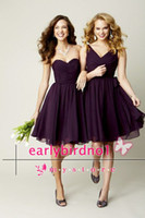 Reference Images Ruffle Sleeveless 2014 Cheap Beach Bridesmaid Dresses Sexy V Neck Sweetheart Ruffle Chiffon Mini Short Wedding Party Prom Cocktail Gowns