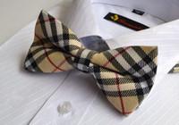 Wholesale Black Two Sided Men Neck Bowtie Bow Tie Pre tied Adjustable Tuxedo Bow Tie EMS