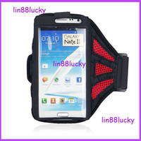 For Samsung Leather Wholesale Reticular Arm band Sport Net Armband Running Gym Strap Case Holder for Samsung Galaxy Note 3 N9000 Note 2 N7100