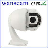 Wholesale HW0025 Pan Tilt PTZ IR Cut Night Vision m H Megapixel P High Definition Outdoor Security CCTV Network IP Cameras