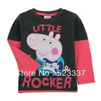 Unisex Summer tops children kids t shirt clothing Hot Sale Tees Cool peppa pig Baby Boys T Shirts For Summer,Children Outwear Baby T-shirt A4343