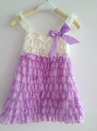 Pretty Baby Clothes Vintage Ivory Lavender Lace Dress for Infant & Toddler Girls 6T Girls Dress Children Clothes