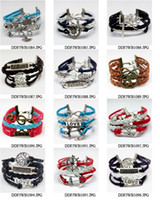 personalized gifts - 10pcs a mixed design Infinity love bracelets amp BANGLES for men and women jewelry gifts leather bracelets Personalized Charm Bracelets
