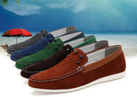 Wholesale Factory direct brand leather casual shoes men s leather shoes flat shoes lazy shoes matte leather Peas