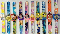animal watch band - Good Quality Mix Style Kids Teens Silicone Birds Cartoon Rubber Band Slap Watches Hot Selling Minion Children Superheros Animals Slap