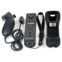 Wholesale Nunchuck Motion Plus Remote Controller Set with Silicon Case for Nintendo Wii Wii U