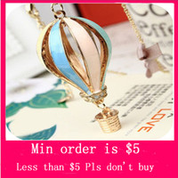 Women's balloon sweater - Min Order Mix Jewelry order Dreamer on Air Colorful Hot Air Balloon Sweater Chain Necklace N0023