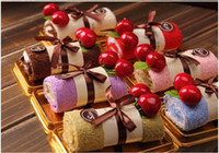 Wholesale Holiday gift Pure cotton towel Swiss roll The new fancy cake towel GS