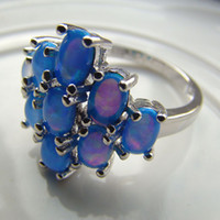 Cheap With Side Stones opal jewelry Best Mexican Women's wedding opal ring