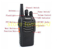 Wholesale 1pcs portable CB radio radio uhf w h ch single black with two way radio Wireless intercom