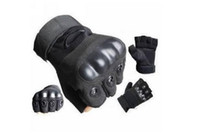 Wholesale Outdoor Half finger Fingerless Tactical Military Hunting Cycling Gloves Black M L XL