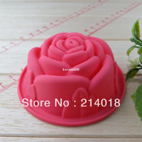Wholesale rose chocolate silicon mold Cake decoration mold Cupcake moulds Jelly pudding si041