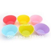 Wholesale 30pcs DIY cm Silicone Cake Mold Cupcake Mold Baking Mould Bakeware Colors