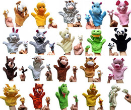 Wholesale 10 sets Parents and children s toys Cute Varies Animal Cartoon hand puppets Talking finger toys Toy story