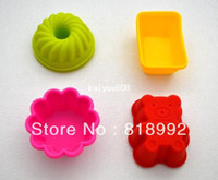 Wholesale New arrive High Quality DIY Silicone Cake pie pudding chocolate Mold Cupcake Mold Baking Mould Bakeware models