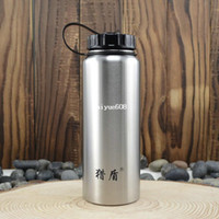 Wholesale 1000ml wide mouth water bottle outdoor big capacity sports bottle stainless steel water bottle