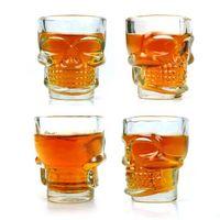 Wholesale 4PCS Skull Head Vodka Shot Wine Glass Drinking Cup Crystal Barware Ounces ml IA358