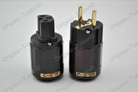 iec connector - Oyaide P E k Gold Plated EUR Schuko Power Plug amp C079 IEC connector