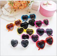 Wholesale 2014 Hot sunglasses Heart shaped candy colors men and women general sun glasses tide glasses