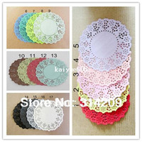 Wholesale quot Inch Colorful colors can choose Flower Paper Lace Doilies Paper Craft Doyley Wedding Cards