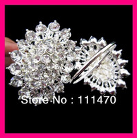 Wholesale flower crystal rhinestone napkin ring for wedding party table rhinestone holder