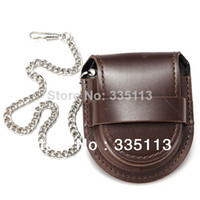 Watch Boxes 6.5 cm 6.5 cm Vintage PU Leather Holder Storage Case Box Coin Purse Pouch Bag with Chain for Pocket mechanical Watch