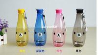 Wholesale 5pcs Rilakkuma Portable bottle cup soda bottle shape prevent leakage water cup ML