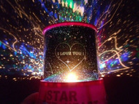 Wholesale Hot cosmos stars laser LED projector Star Projector Lamp LED Night light lantern for Lovers Colorful