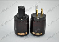 EUR power plug P079 & C079 US Oyaide P-079 24k Gold-Plated US AC Power Plug & C079 IEC connector Free shipping