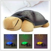 Wholesale Turtle LED Night Light Music Lights Mini Projector Colors Songs Star Lamp Xmas Gift Children Toys Educational Tortoise