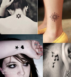 Wholesale 2014 Hot Women men fashion Temporary waterproof Tattoo Stickers designs Body Art tattoo