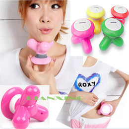 Wholesale Mini Cute Wave Vibrating Massager and relaxation USB Battery Electric Handled Full Body Massage