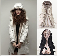 Nouveau 2016 en fausse fourrure doublure en fourrure Hoodies Mesdames manteaux hiver long manteau chaud veste coton des vêtements de femmes thermiques parkas de femmes