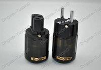 EUR power plug P004E & C004 EUR (Schuko) Oyaide P004E Rhodium -Plated EUR Schuko Power Plug & C004 IEC connector Free shipping